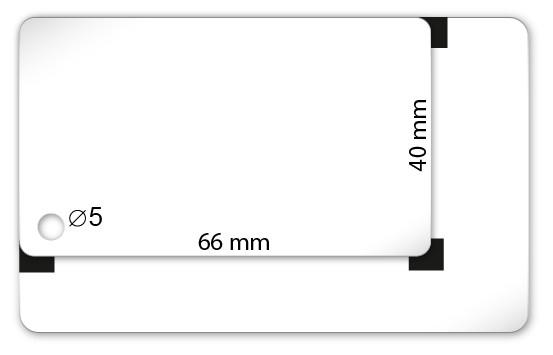 Plastikkarten Sonderformat 66 x 44mm