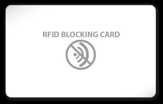 RFID Blocking Card - blanko weiß