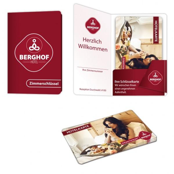Karten Verpackung - Modell Holiday mit bedruckten Plastikkarten