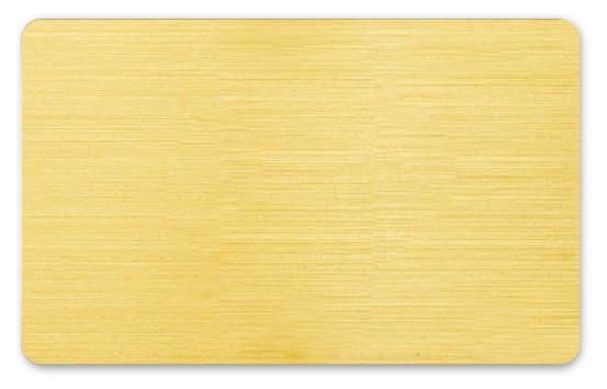 Plastikkarten gebürstetes gold