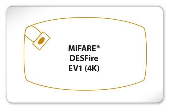 MIFARE® DESFire® EV1 4K Karte