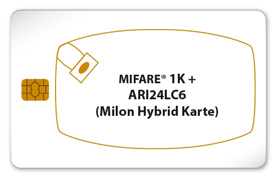 MIFARE® Classic 1K + ARI24LC16 (Milon Chipkarte)