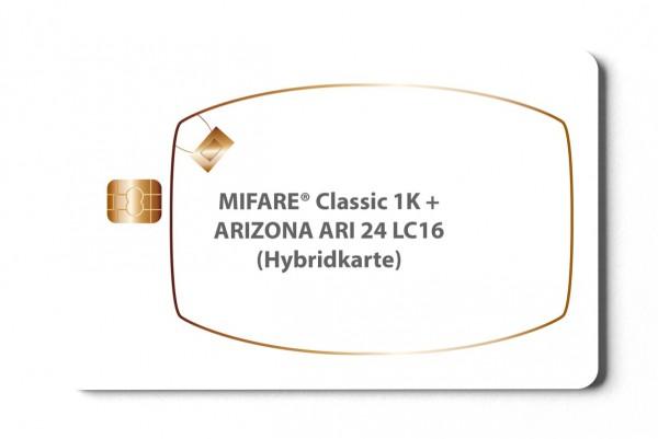 Hybridkarte MIFARE® Classic 1K + ARI24LC16