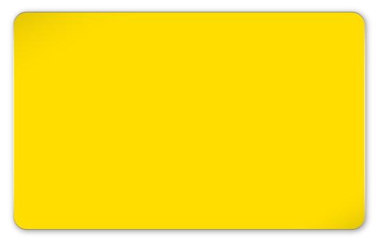 Plastikkarten gelb - Stärke: 0,76 mm