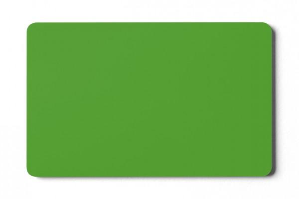 Plastikkarten grün - 0,76 mm