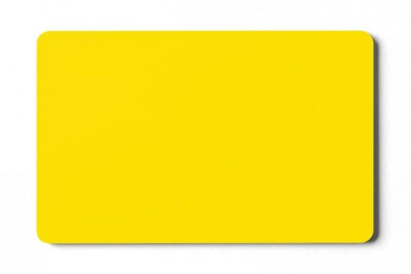 Plastikkarten gelb - 0,76 mm