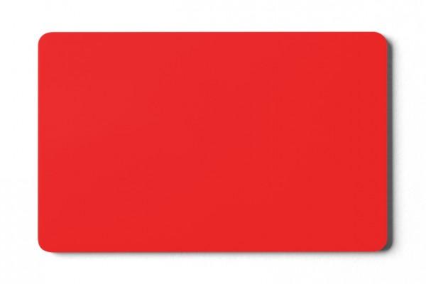 Plastikkarten rot - 0,76 mm