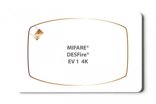 Transponderkarte MIFARE® DESFire® EV1 4K Karte