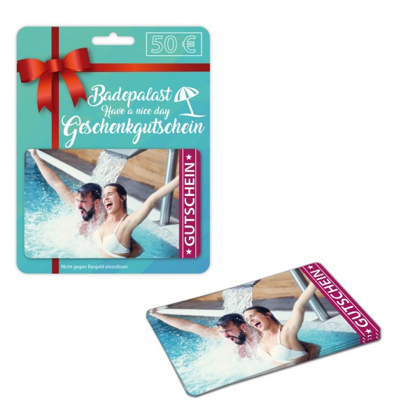 Karten Verpackung - Modell Point of Sale mit bedruckten Plastikkarten