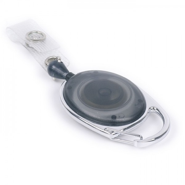 Ausweisjojo oval mit großem Befestigungsbügel