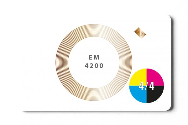EM4200 Karte - 4/4-farbig bedruckt