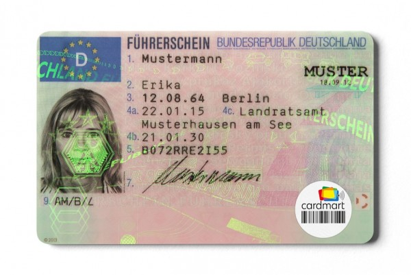 Führerscheinetiketten mit Fudan 1K oder Ntag 213