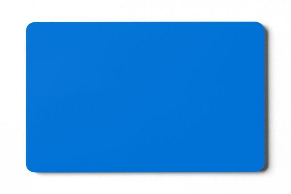 Plastikkarten blau - 0,76 mm