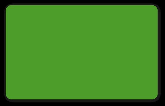 Plastikkarten grün - Stärke: 0,50 mm