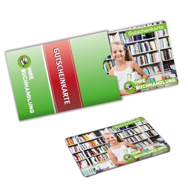 Karten Verpackung - Modell Slider mit bedruckten Plastikkarten