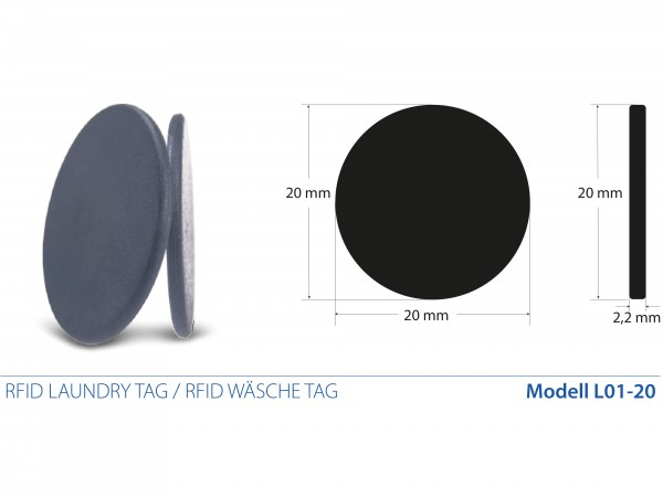 RFID Laundry Tags / RFID Wäsche Tags mit Alien H3